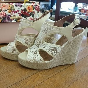 Wedge or platform style heels Luck Brand size 9.5